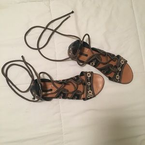 Forever 21 lace up sandals
